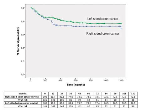 Clinico Pathological And Oncological Differences Between Right And Left Sided Colon Cancer Stages I Iii Analysis Of 950 Cases