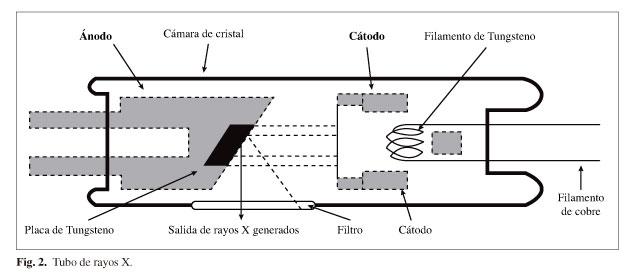 Partes de la cabeza del tubo de rayos x